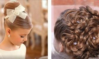Зачіски для дітей на випускний фото