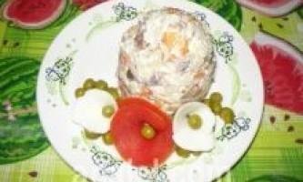 Салат під горілочку рецепт з фото - покроковий смачний рецепт салату під горілочку, як приготувати салат під горілочку