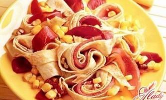 Салат з омлетом: оригінальні рецепти