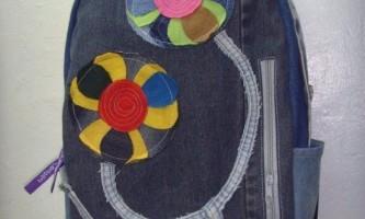 Форма рюкзака своїми руками з джинсів для хлопчика і дівчинки